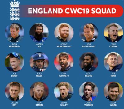 انگلینڈ نے ورلڈ کپ کے لیے ابتدائی 15 رکنی ٹیم کا اعلان کردیا