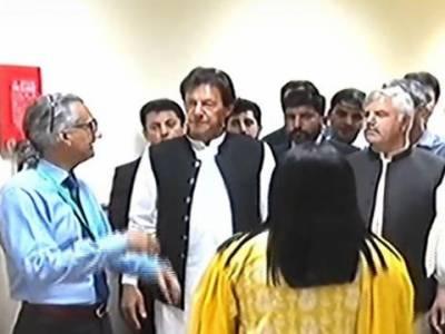 وزیرِاعظم کاپشاورمیں شوکت خانم میموریل ٹرسٹ ہسپتال کےمختلف شعبوں کادورہ