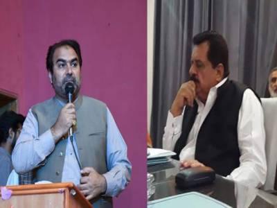 وفاقی وزیر ہاؤسنگ اور پی ٹی آئی رکن پنجاب اسمبلی کے درمیان تلخ کلامی