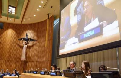 کشمیریوں کو حقِ خودارادیت سے محروم رکھنا عالمی امن کیلئے خطرہ ہے:ملیحہ لودھی