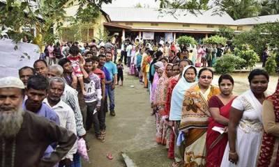 بھارت: لوک سبھا کے انتخابات کا چوتھا مرحلہ، 9 ریاستوں کی 71 نشستوں پر پولنگ جاری