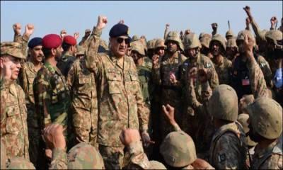 پاک فوج جواں مردی اور بہادری سے وطن عزیز کا دفاع یقینی بنائے گی: جنرل قمر باجوہ