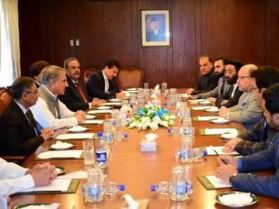 پاکستان ،افغانستان میں امن کےلئےاپنی کوششیں جاری رکھےگا:وزیرخارجہ شاہ محمود قریشی