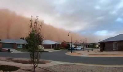 आस्ट्रेलिया:रेत के तूफ़ान से दिन में तारीकी छागई