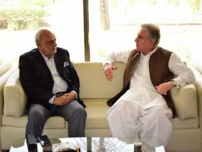 وزیر خارجہ مخدوم شاہ محمود قریشی سے وزیر داخلہ بریگیڈیئر (ر) اعجاز شاہ کی ملاقات، ای ویزہ کے اجراء و ملکی داخلی سلامتی کی صورتحال پر تبادلہ خیال