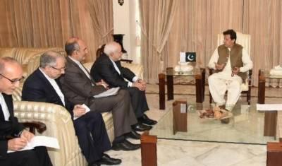 وزیراعظم سےایرانی وزیرخارجہ کی ملاقات،پاک ایران دو طرفہ تعلقات پر تبادلہ خیال
