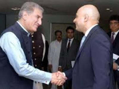 شاہ محمود قریشی کی برطانیہ کے وزیر داخلہ ساجد جاوید سے ملاقات، مختلف امور پر گفتگو
