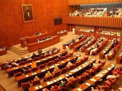 سینیٹ اجلاس ہنگامے کی نذر ، حکومتی اور اپوزیشن اراکین ایک دوسرے پر حملہ آور، سیکیورٹی طلب