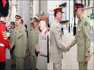 آرمی چیف کا برطانوی وزارت دفاع کا دورہ، آئی ایس پی آر