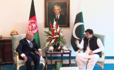 وزیراعظم عمران خان اور افغان صدر اشرف غنی کی ملاقات،اہم امور پر تبادلہ خیال