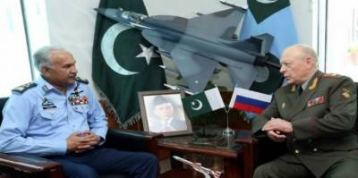 روس کی بری افواج کے سربراہ کی پاک فضائیہ کے سربراہ سے ملاقات، علاقائی سلامتی اور باہمی تعاون سے متعلق مختلف امور زیرِ بحث آئے