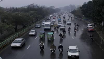 لاہور سمیت پنجاب کے مختلف شہروں میں بارش،موسم خوشگوار