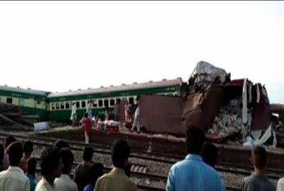 صادق آباد :اکبر ایکسپریس اورمال گاڑی میں تصادم،11 افراد جاں بحق،67 زخمی