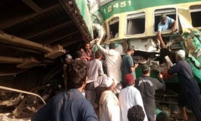 صادق آباد میں ٹرینوں کاٹکراؤ انسانی غفلت کے باعث ہوا:شیخ رشید