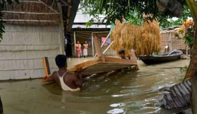 آسام،سیلاب کے نتیجے میں4افراد ہلاک،12لاکھ متاثر