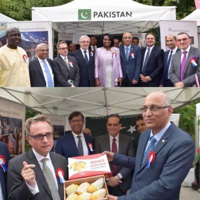 ڈپلومیٹک گارڈن پارٹی پیرس میں ثقافتی ورثہ اور روائیتی کھانوں کا پاکستانی سٹال شرکاء کی توجہ کا مرکز