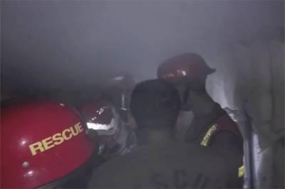 لاہور بورڈ آف انٹرمیڈیٹ آفس کی آگ پر قابو پالیا گیا