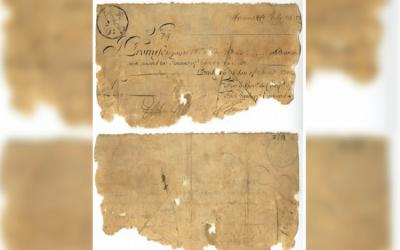 برطانیہ : 3 صدیوں پرانا بینک نوٹ منظر عام پر آگیا
