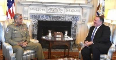 آرمی چیف جنرل قمر باجوہ کی امریکی وزیر خارجہ مائیک پومپیو سے ملاقات