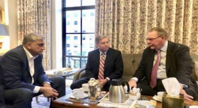 آرمی چیف کی سینیٹر لنڈسے گراہم اور ریٹائرڈ جنرل جیک کین سے ملاقات