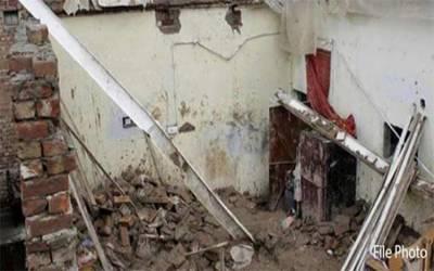 لاہور: گھر کی چھت گرنے سے 3 بچے جاں بحق، 7 افراد زخمی