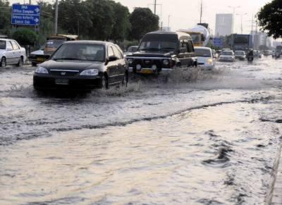 کراچی میں بارش کا پانی کے ڈی اے گرڈ سٹیشن میں داخل