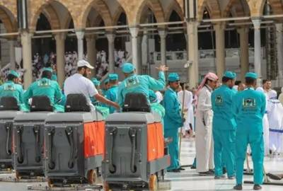 حج انتظامات، مسجد حرام میں 400 افراد پر مشتمل صفائی کا عملہ تعینات