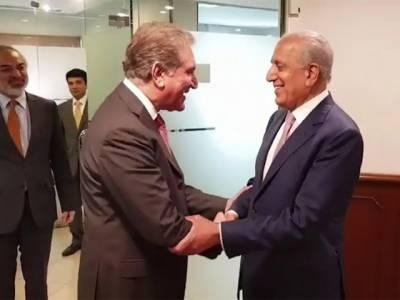 وزیر خارجہ شاہ محمود قریشی سے امریکی نمائندہ خصوصی برائے افغان مفاہمتی عمل زلمے خلیل زاد کی اہم ملاقات