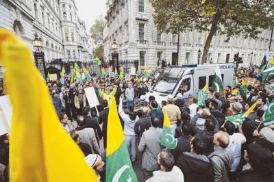 مقبوضہ کشمیر میں مظالم کیخلاف امریکہ، برطانیہ سمیت دنیا بھر میں احتجاج