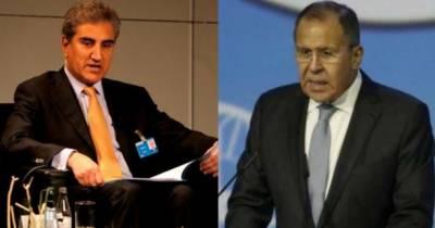 شاہ محمود قریشی کا روسی ہم منصب کو فون، مقبوضہ کشمیر کی صورتحال سے آگاہ کیا