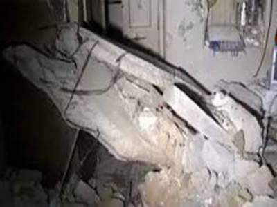 کراچی میں مکان کی چھت گرنے سے 4 افراد زخمی