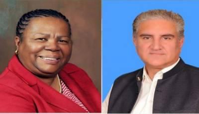 وزیرخارجہ شاہ محمود قریشی کاجنوبی افریقہ کی ہم منصب کوٹیلیفون، مقبوضہ کشمیرکی موجودہ صورتحال سےآگاہ کیا