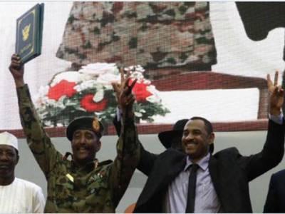 سوڈان: حکمران ملٹری کونسل،حزب اختلاف کے اتحاد میں عبوری حکومت کے قیام کا معاہدہ