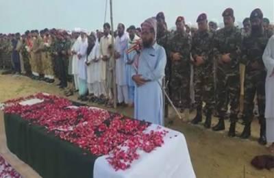 اٹک:کیل سیکٹر پر شہید ہونیوالے نائب صوبیدار احمد خان فوجی اعزاز کیساتھ سپرد خاک