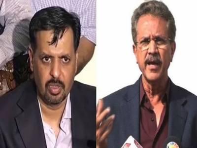 میئر کراچی وسیم اختر اور مصطفی کمال آمنے سامنے، ایک دوسرے پر الزامات کی بوچھاڑ