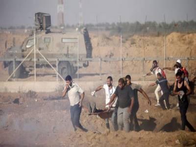 غزہ میں مظاہرین پر اسرائیلی فائرنگ سے دو بچے شہید
