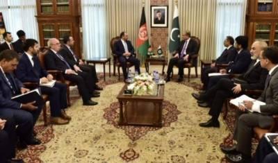افغان وزیر خارجہ کی شاہ محمود سے ملاقات: پاکستان،افغانستان کاانسداددہشت گردی،سلامتی کے شعبوں میں مشترکہ کوششوں پراتفاق