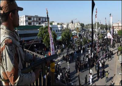 محرم الحرام : رینجرز کی جانب سے عوام کے تحفظ کیلئے سیکیورٹی کے سخت انتظامات