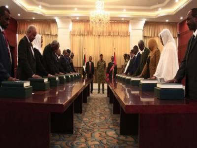 سوڈان میں 18رکنی نئی کابینہ نے حلف اٹھا لیا