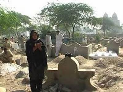 10محرم الحرام ،شہریوں کا فاتحہ خوانی کےلئے قبرستانوں میں جانے کا سلسلہ دن بھر جاری رہا