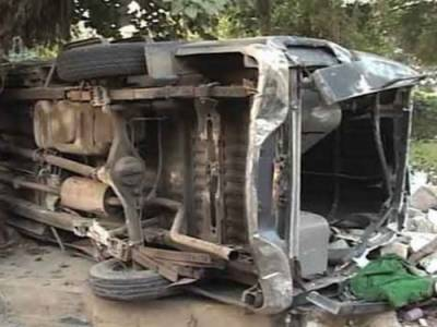 شیخوپورہ میں وین حادثہ، 18 مسافر زخمی