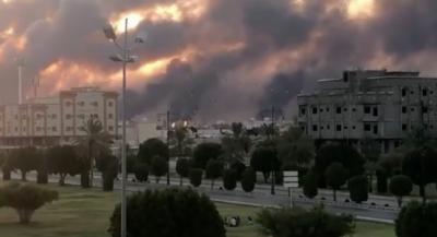 سعودی عرب کے شہر بقیق میں ارامکو کے پلانٹ میں لگنے والی آگ پر قابوپالیاگیا