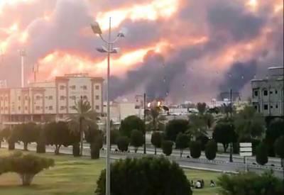 سعودی عرب نےدو بڑےآئل فیلڈز پرڈرون حملوں کے بعد تیل اورگیس کی پیداوارروک دی