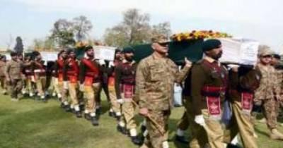 بھارتی فائرنگ سے شہید حوالدار ناصر حسین فوجی اعزاز کے ساتھ سپرد خاک