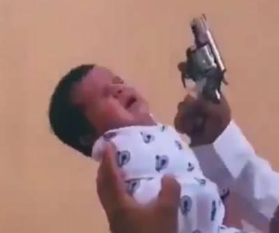 سعودی عرب:شیرخوار بچی کو اٹھا کر ہوائی فائرنگ کرنے کے واقعے کی تحقیقات