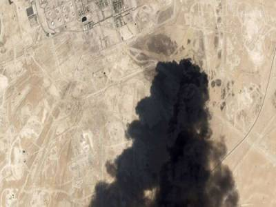 امریکا نے ارامکو کے پلانٹس پر حملوں کی سیٹلائٹ تصاویر جاری کر دیں