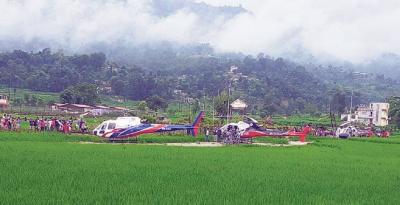 نیپال: خراب موسم کے باعث غیر ملکی سیاحوں کے 9 ہیلی کاپٹر وں کی ایمرجنسی لینڈنگ