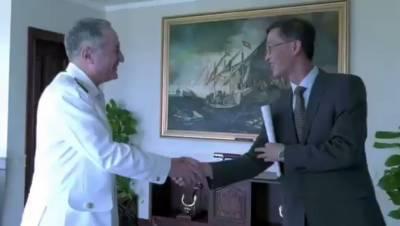 چینی سفیر کی پاک بحریہ کے سربراہ سے ملاقات,سکیورٹی صورتحال پر تبادلہ خیال