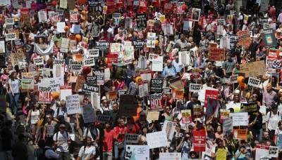 امریکا میں مودی کے خلاف ہزاروں افرادسڑکوں پر نکل آئے،بھرپور احتجاج