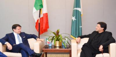 وزیراعظم اور اٹلی کے ہم منصب کا باہمی دلچسپی کے امور پر تبادلہ خیال